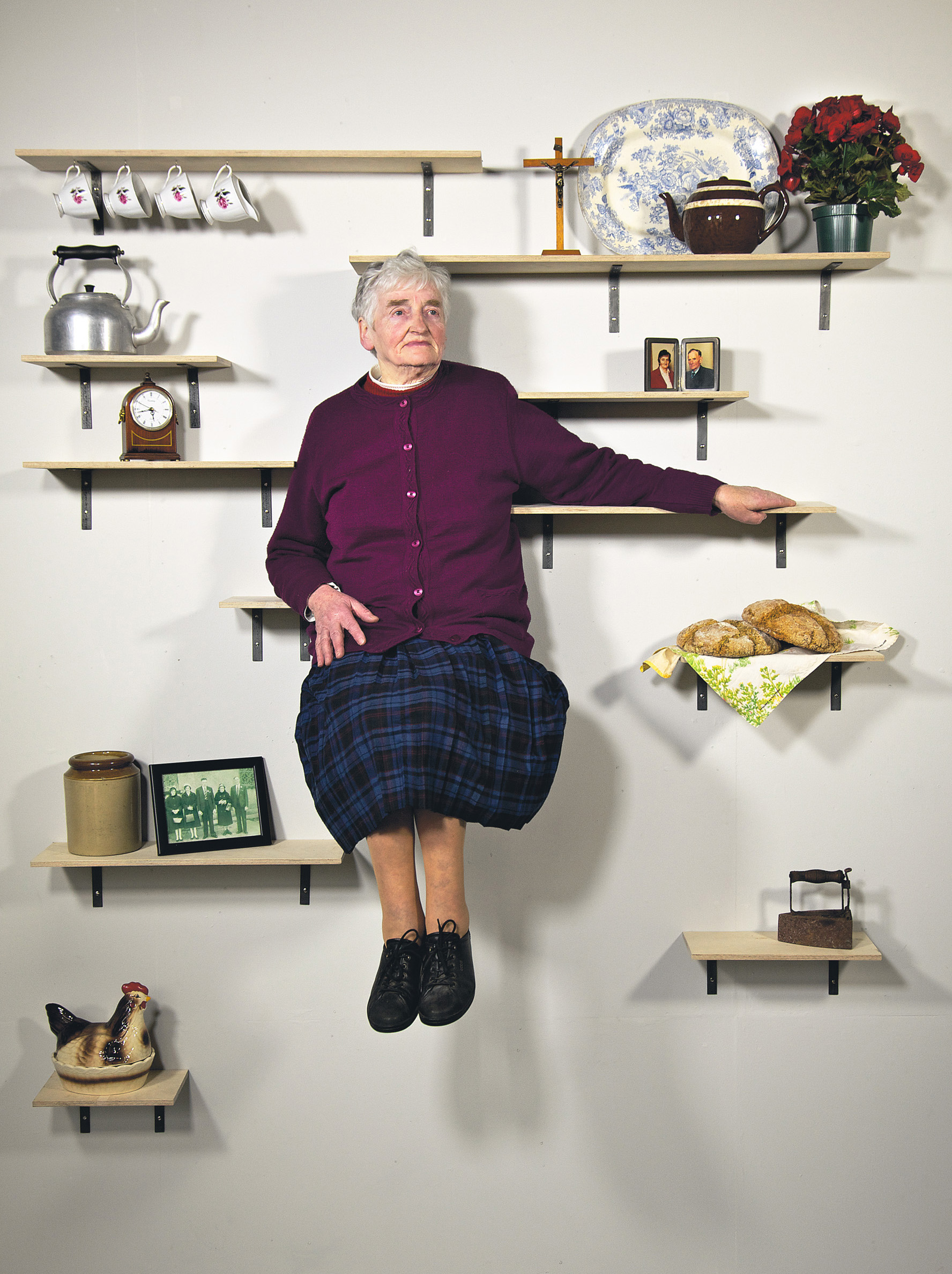 Nana Shelf Portrait by Darragh Casey