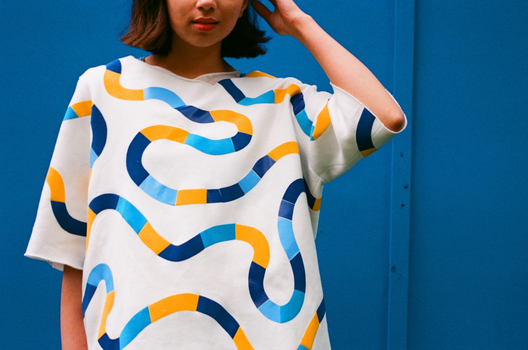 Marble run flocked jumper, photo taken by @bluelaybourne