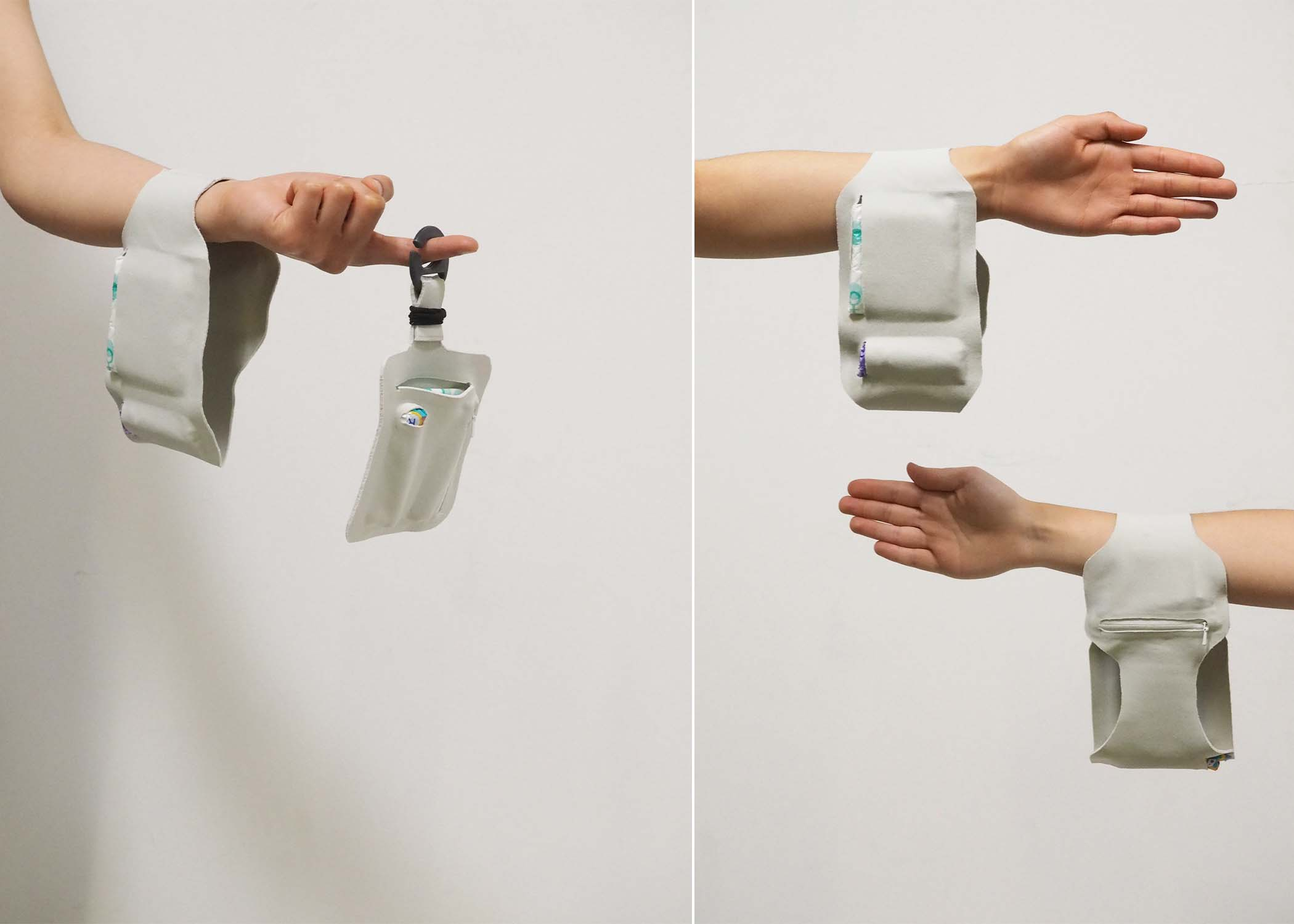 arms with white wrist bandage