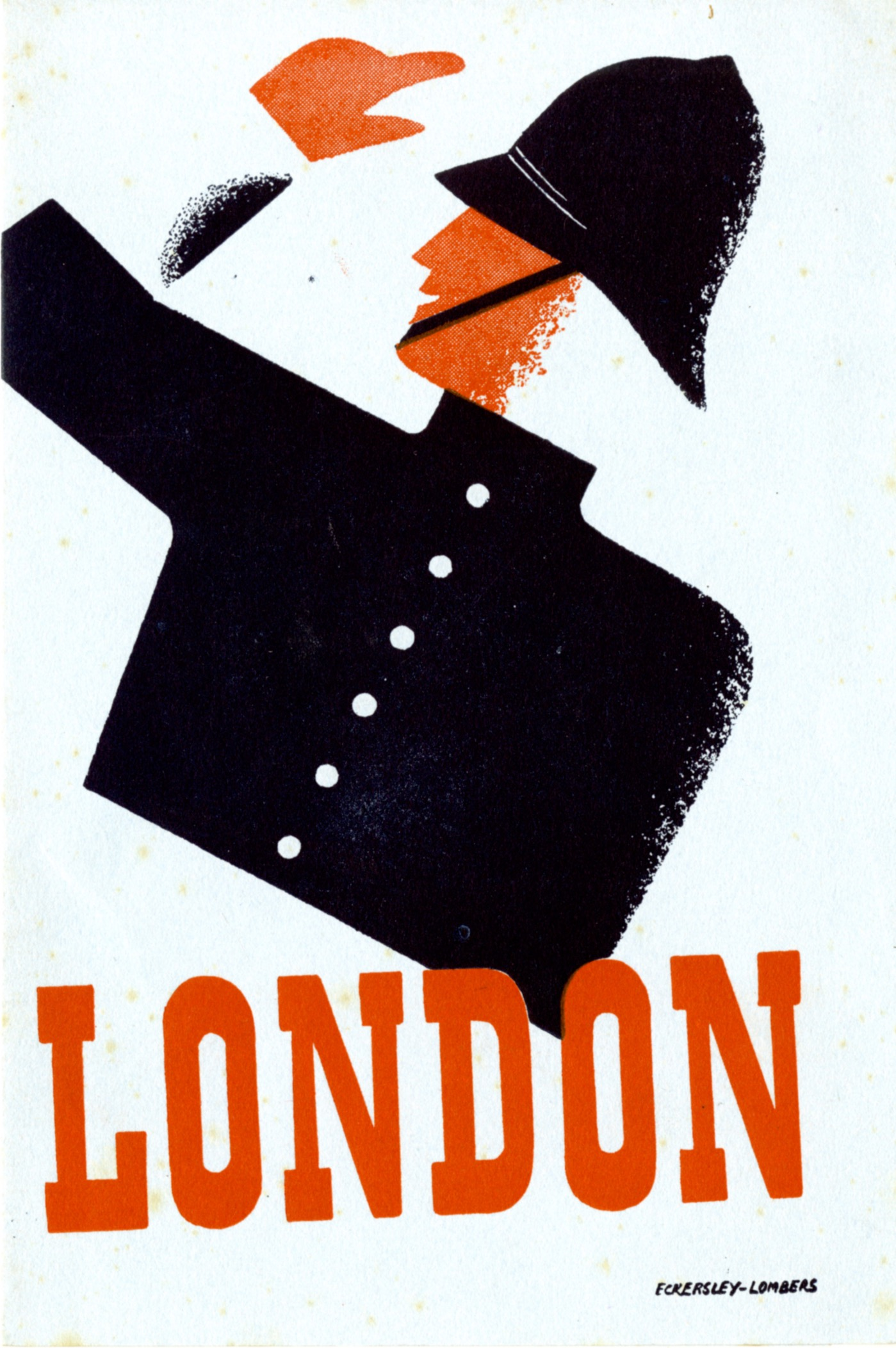 Poster featuring a police officer in uniform and the text 'London'