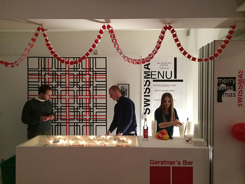 Gersntner's Bar at BA Graphic Design Swissmass Christmas Party 2014
