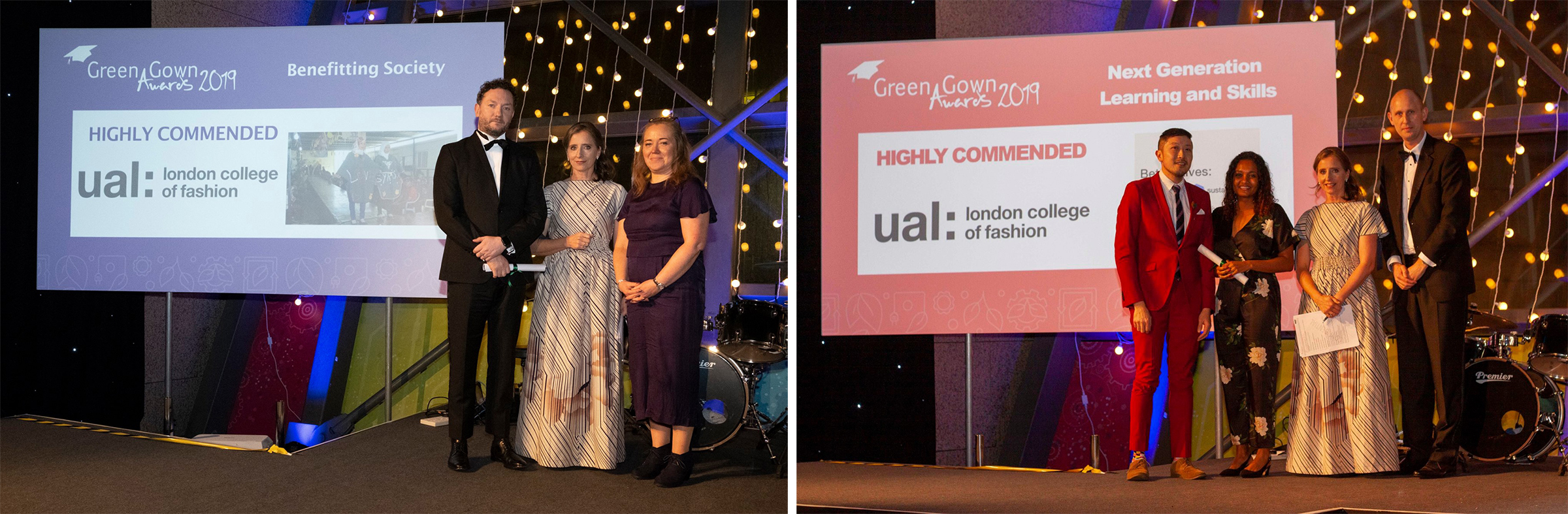 LCF accepting awards at the green gowns 2019