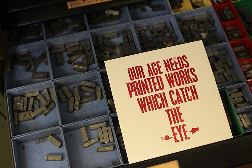 Image: 'Staging A Play', Letterpress exhibition