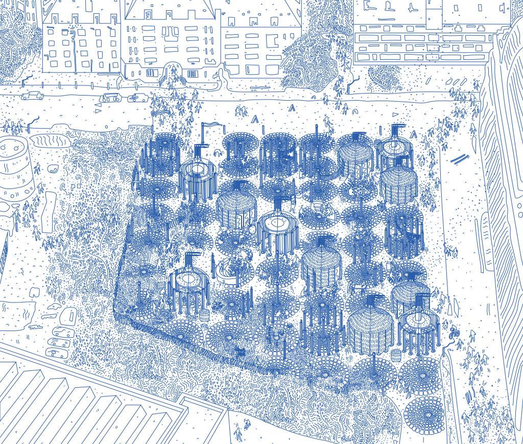 Illustration of architectural plan