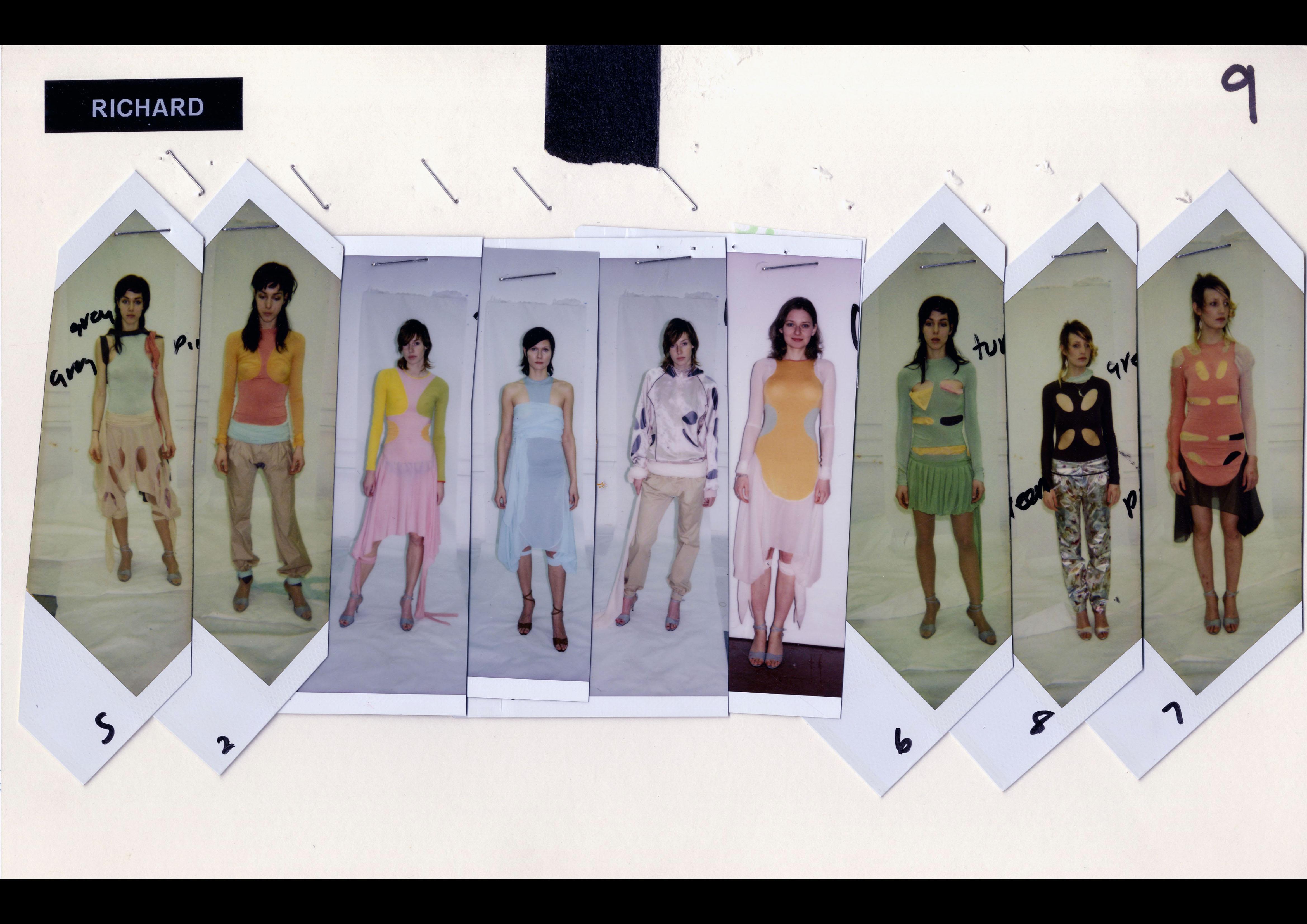 Richard Nicoll's MA Fashion Womenswear line-up, 2002