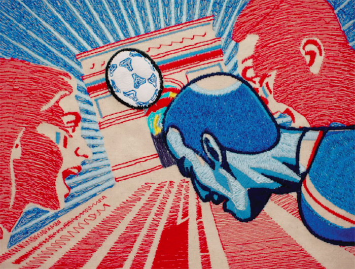 Watch BBC's World Cup tapestry animation created by LCF staff and students