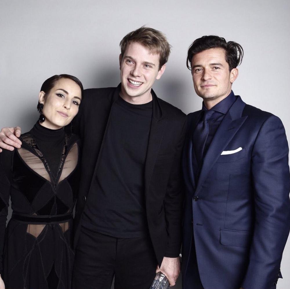 Jonathan Anderson, Orlando Bloom, Noomi Rapace (image from British Fashion Council)