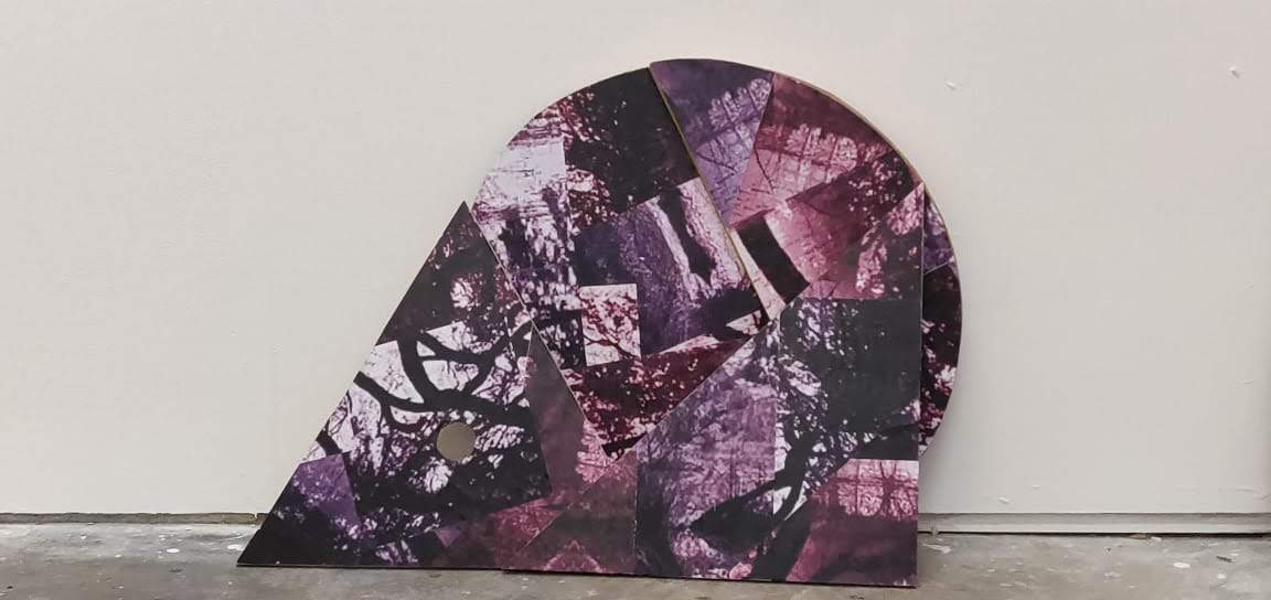 Example of student work - purple geometric shaped artwork