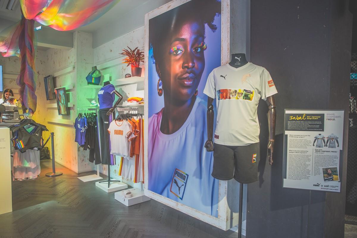 PUMA London Carnaby Street Store displays