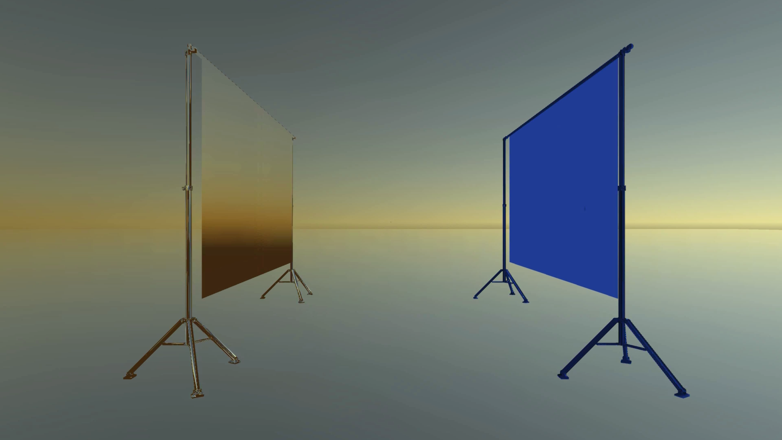 Digital graphic of two presentation boards facing each other