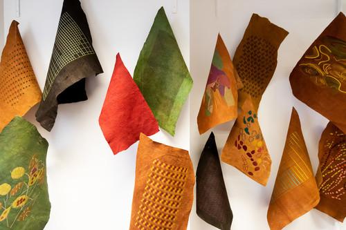 Pieces of textile materials