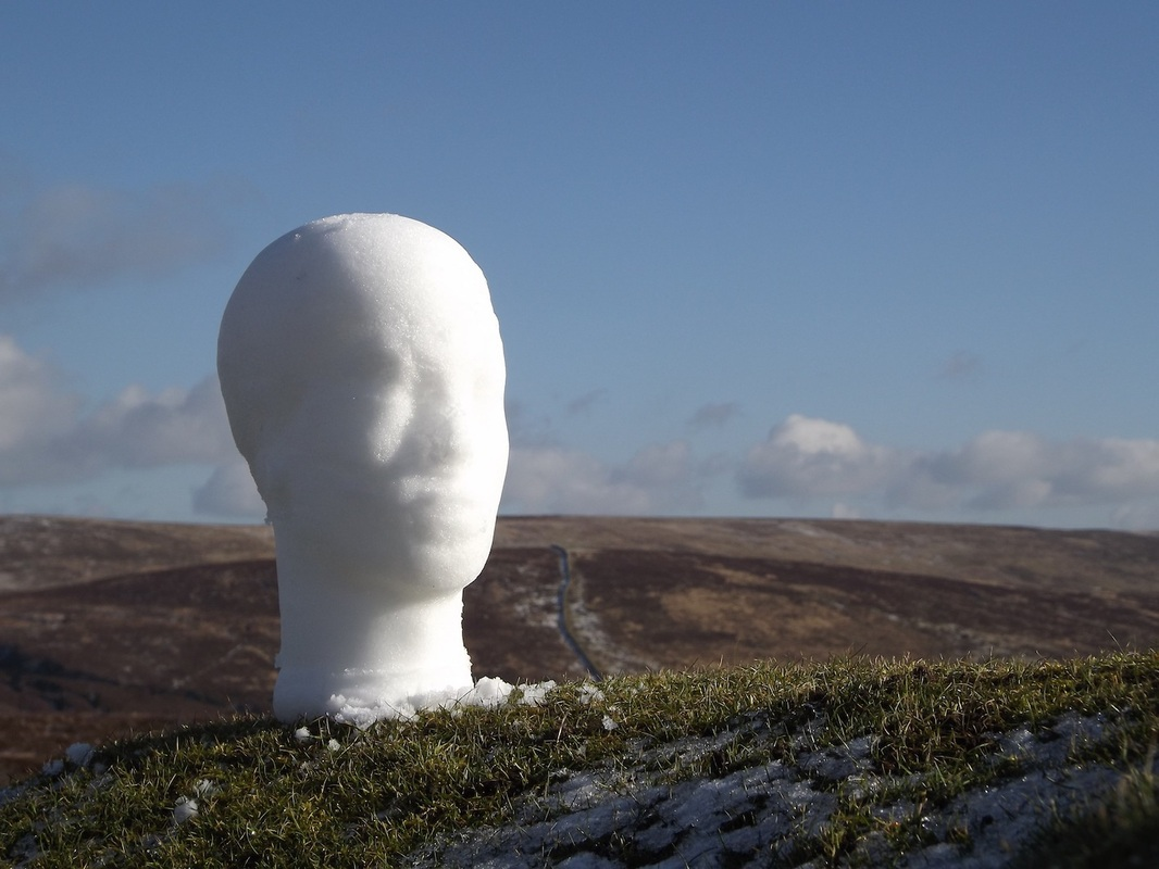 Testing the mould in Dartmoor National Park, snow.