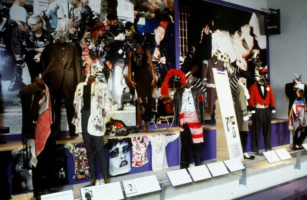 A display of punk artefacts