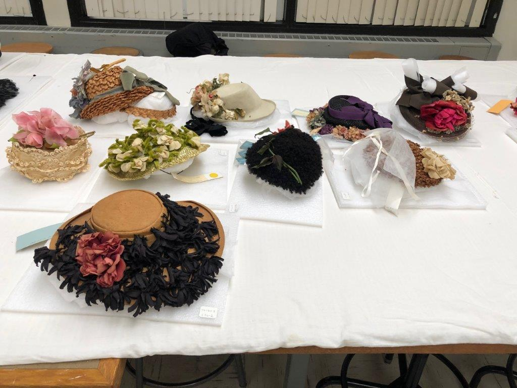 Group of rose shaped hats
