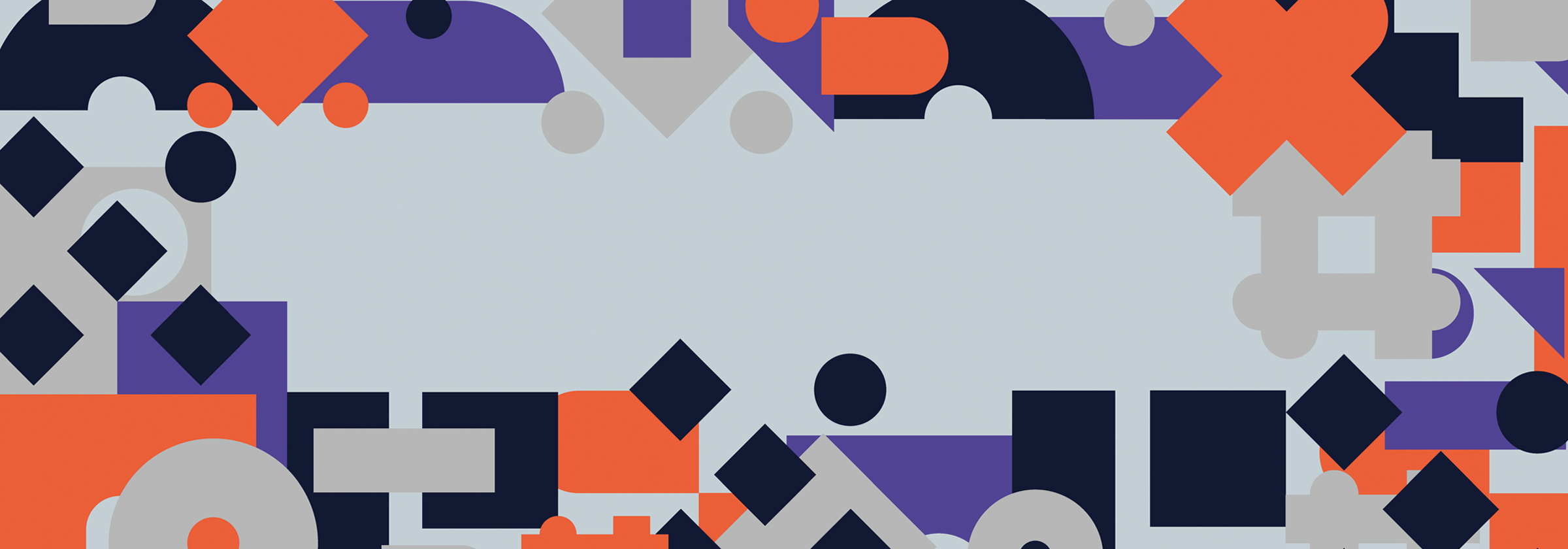 Fashion Means Business graphic of coloured shapes designed by LP Studio