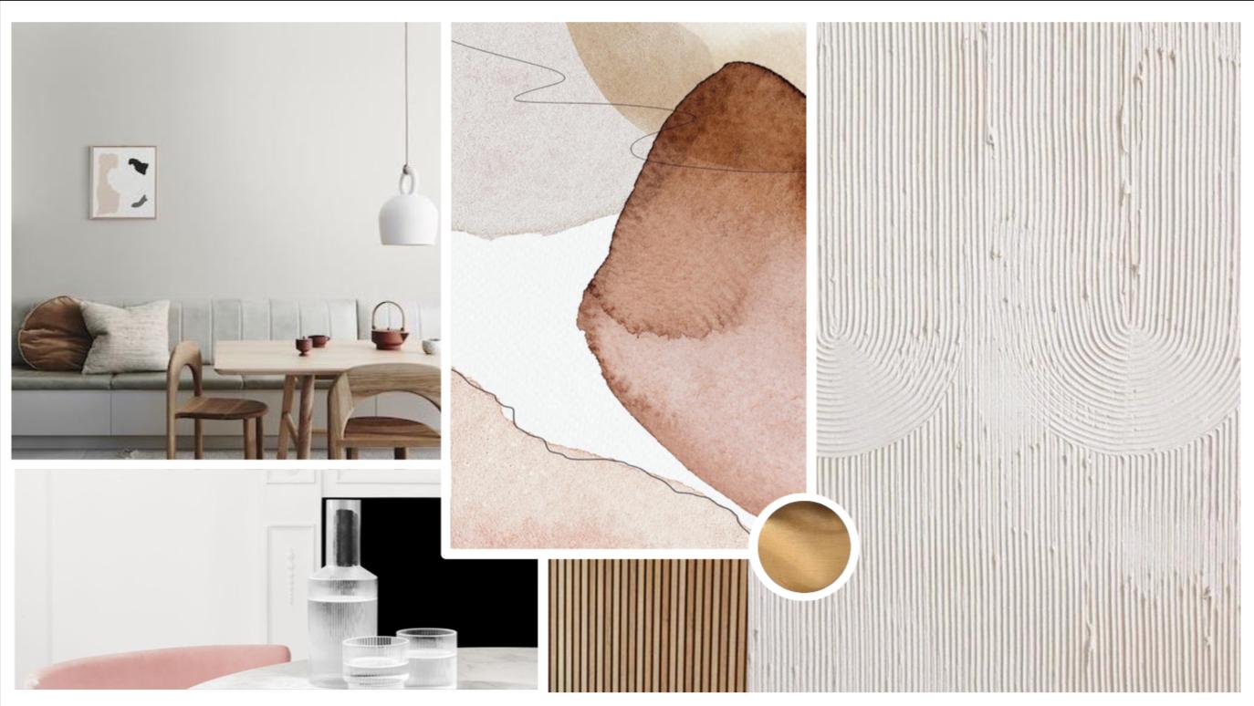 interior design concept board
