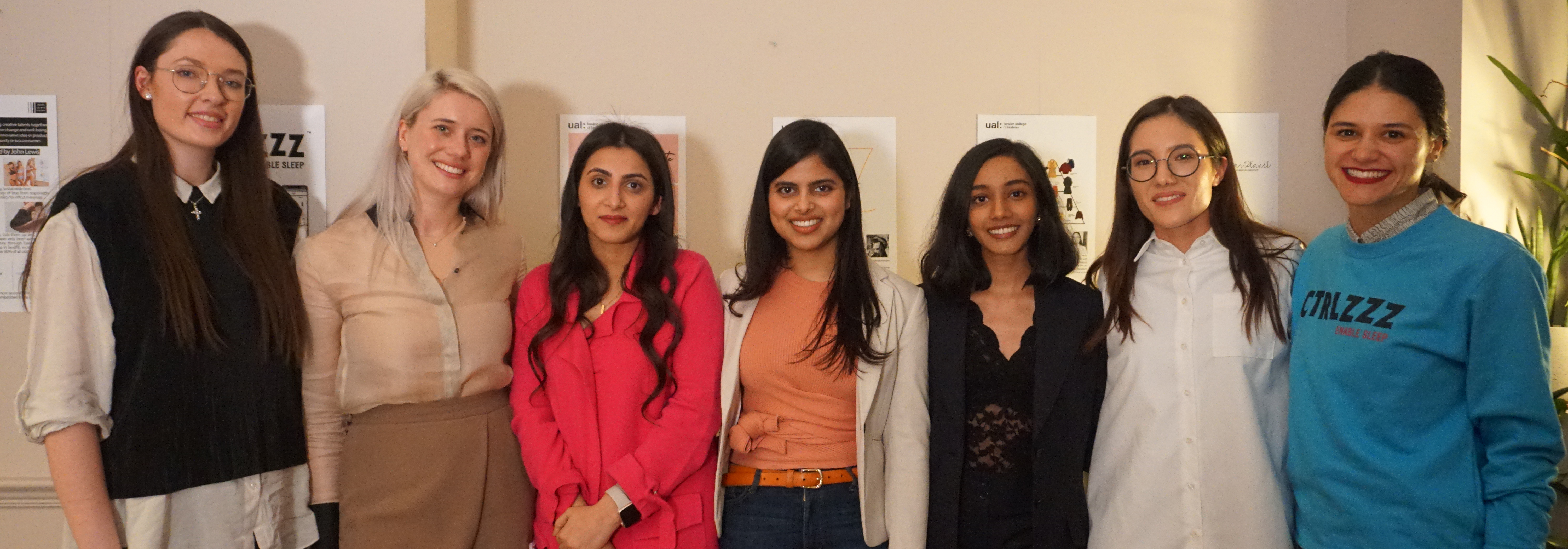 Finalists of the Enterprise Challenge posing with their prizes at John Lewis in Oxford Street, where the event took place