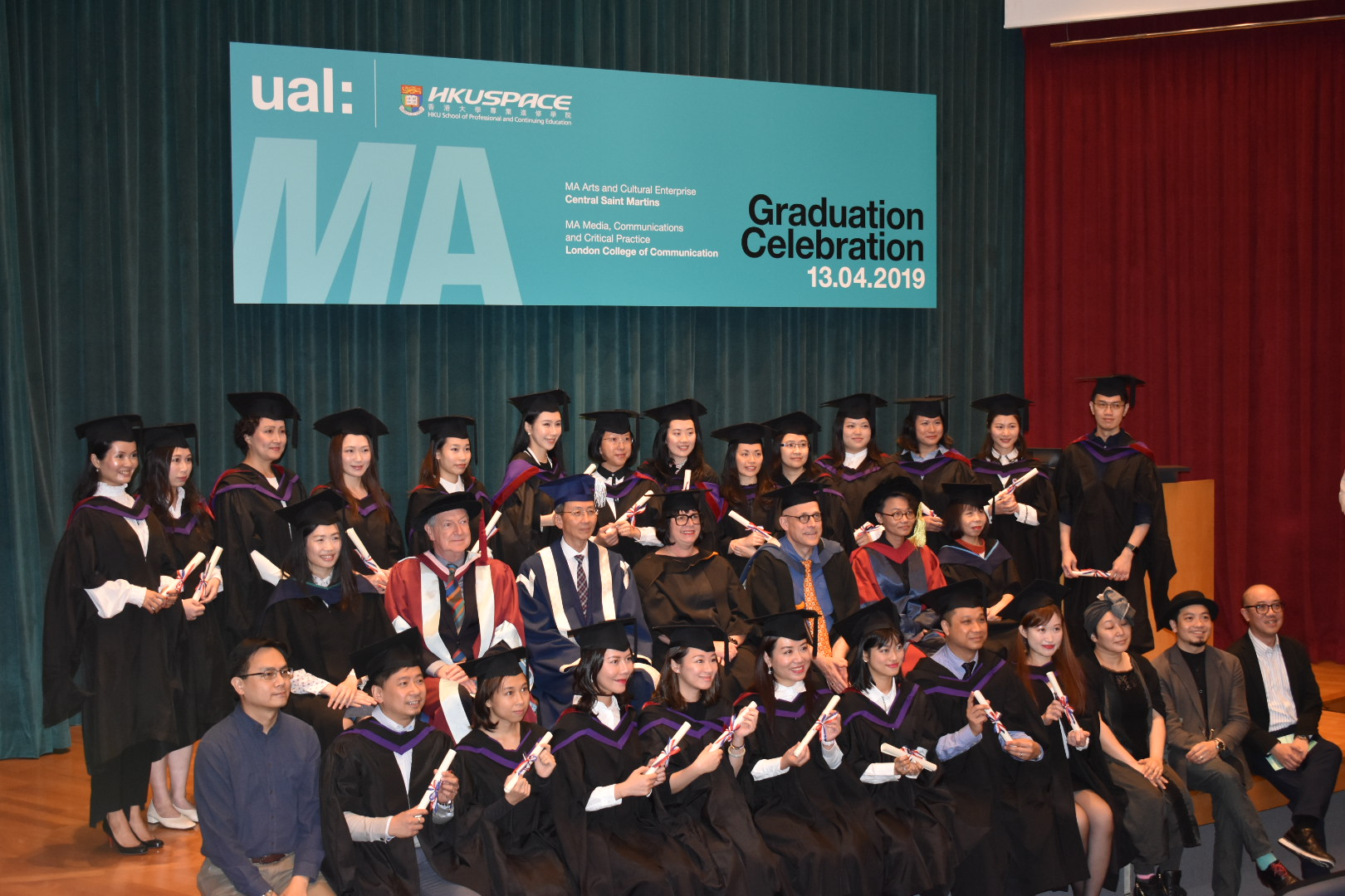 UAL and HKUSPACE 2019 graduates in gowns