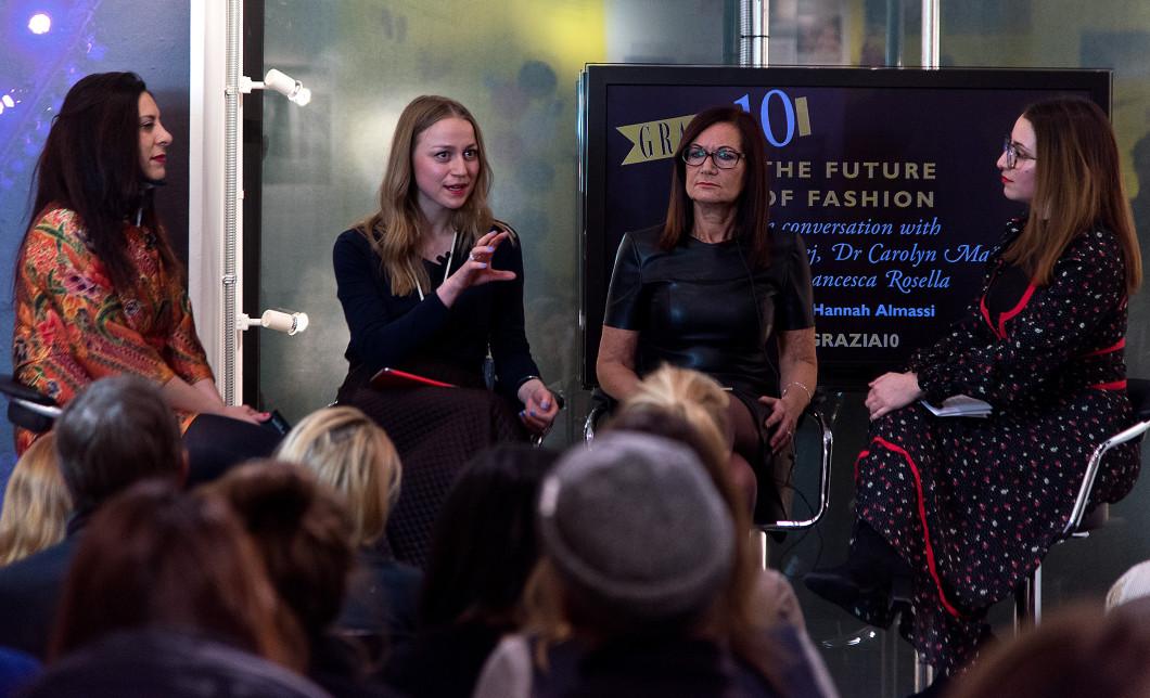 Grazia Ten Talks 'the Future of Fashion' panel discussion