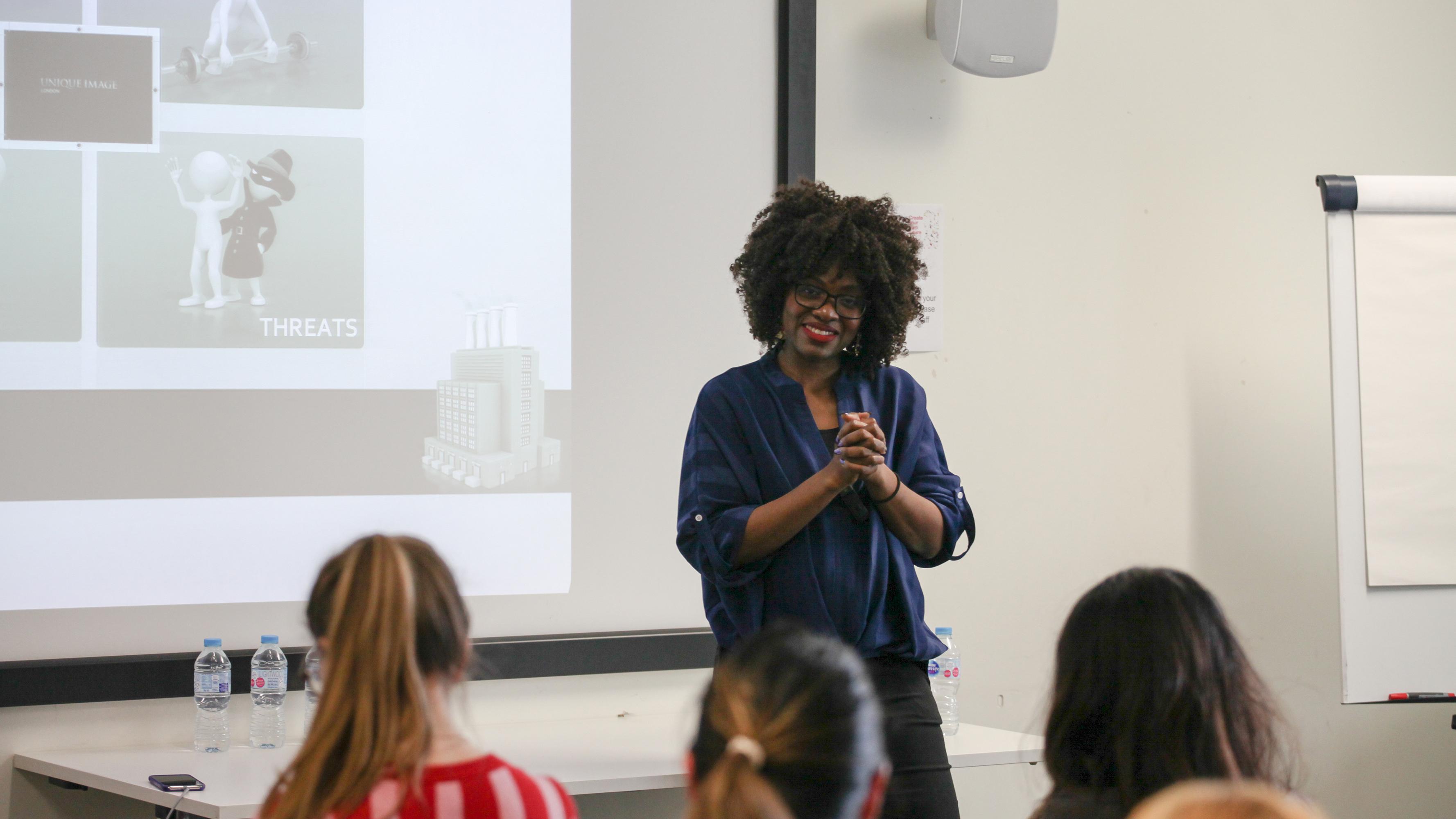 Genevieve Muwana at the Shameless Self-Promotion event.