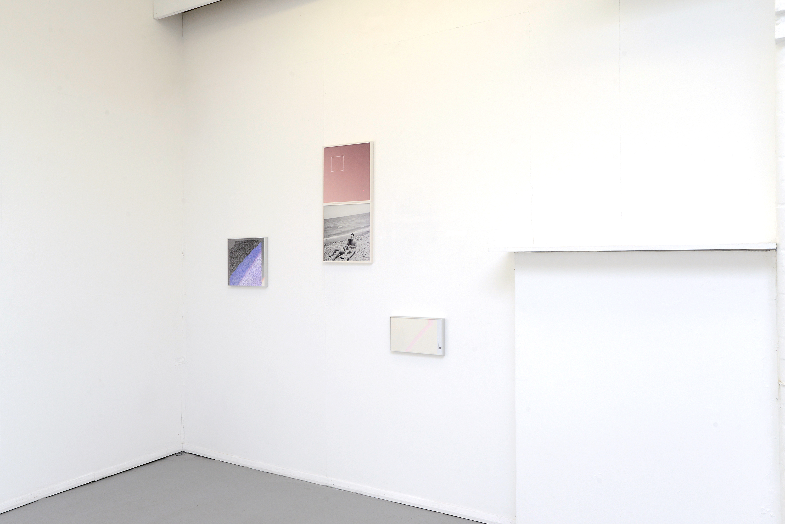 A photo of a white gallery space