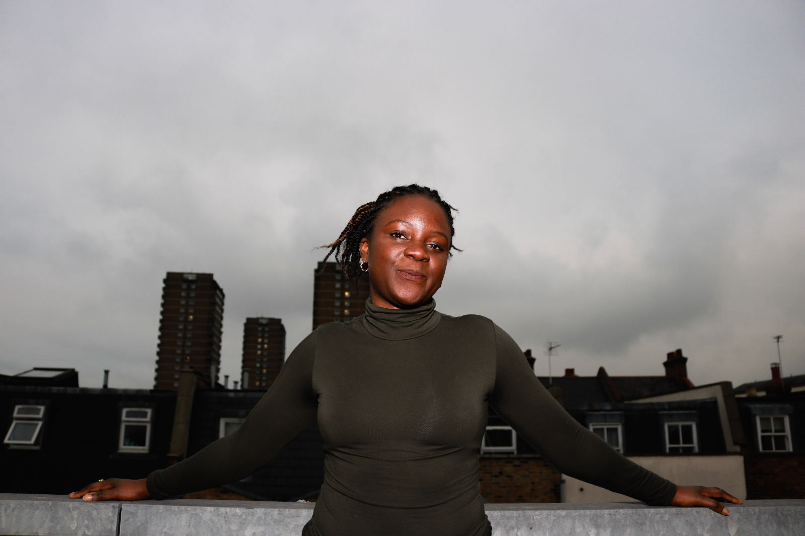 Portrait of Stella with sky line backdrop
