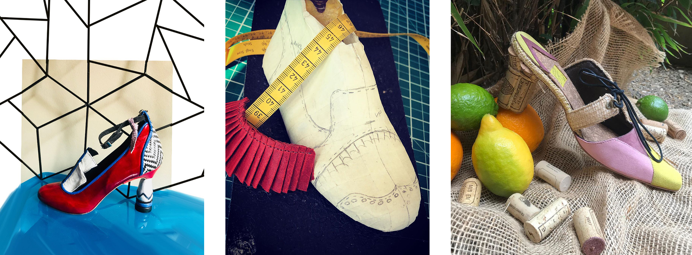 Shoes designed by LCF Cordwainers Footwear student Swann Phelippeau